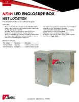 Datasheet – LED Enclosure Box (Wet Location)