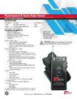 Datasheet – Fluorescent & Neon Tube Tester