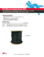 Datasheet – GTO Silicone Integral Sleeve Wire