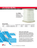 Datasheet – Low-Voltage LED Wire