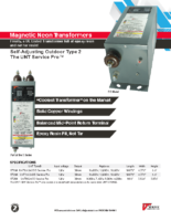 Datasheet – Magnetic Neon UNT Service Pro™ Transformers