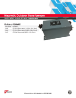 Datasheet – Magnetic Outdoor Transformers