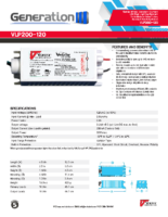 Datasheet  – VLP200-120