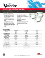 Datasheet – Venbrite System 100 LED Sign Lighting