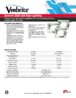 Datasheet – Venbrite System 200 LED Sign Lighting