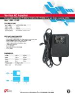 Datasheet – Ventex AC Adapter