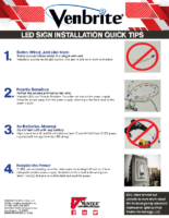 Venbrite LED Sign Installation Quick Tips